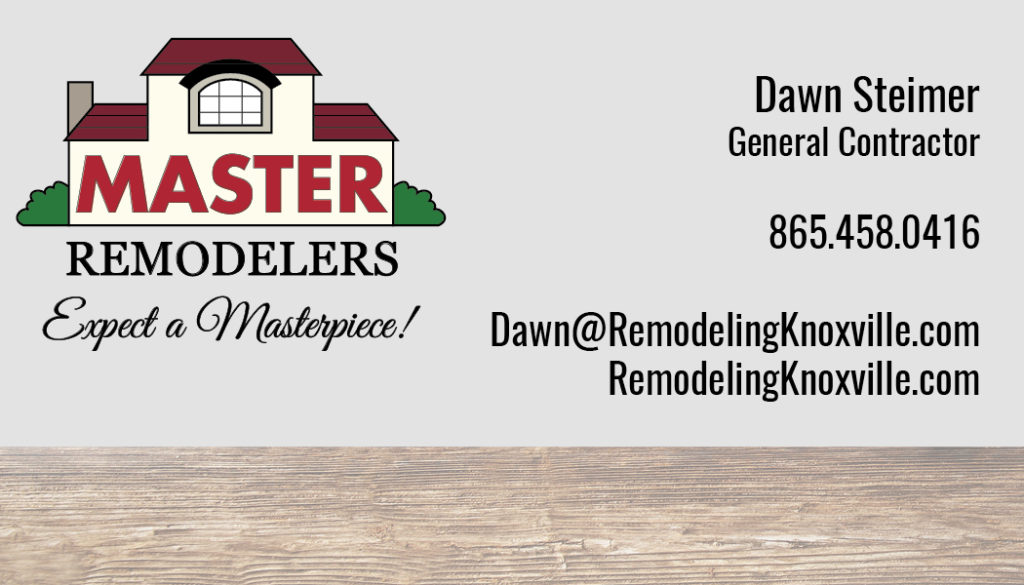 Master Remodelers Business Card (Designed and Printed)